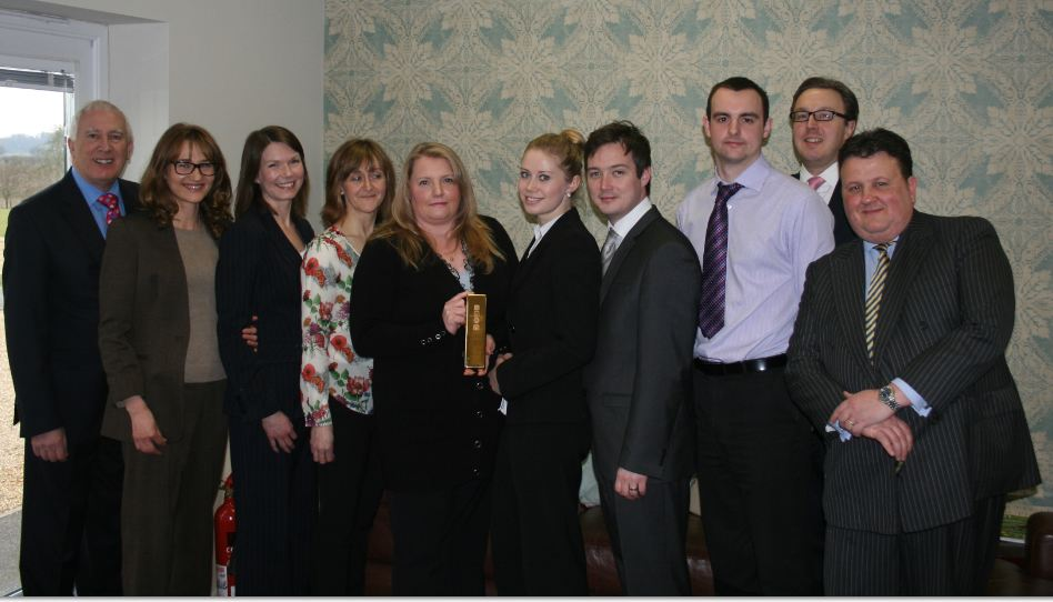 The Fiducia Team with the Award